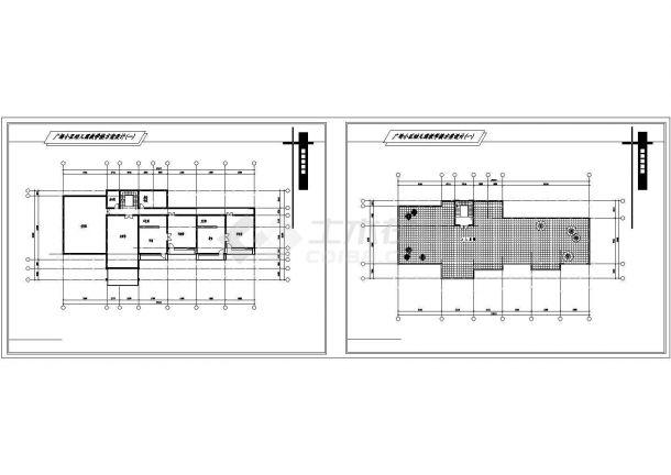 广场二层幼儿园方案建筑师合计cad图纸,共7张-图二