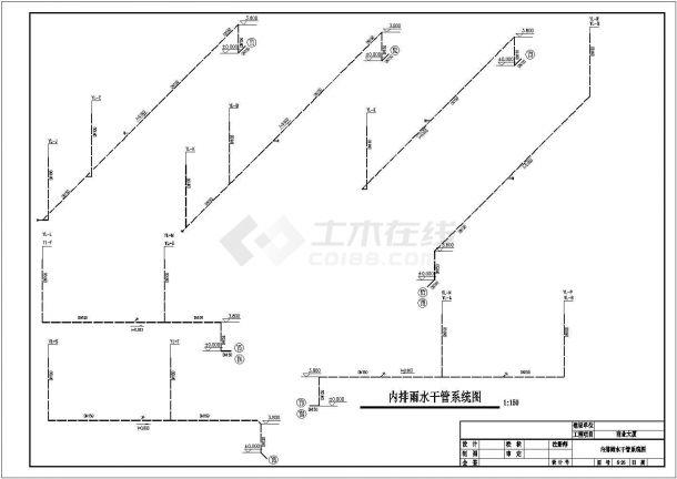 某小型商业建筑散热器采暖系统设计cad全套施工图(含给排水系统设计)-图二