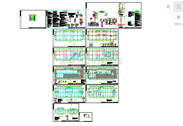 五套隧道常用cad结构设计图纸-图二