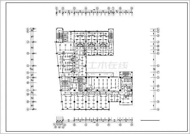 某地区市中心建筑各层照明配电系统设计CAD资料-图二