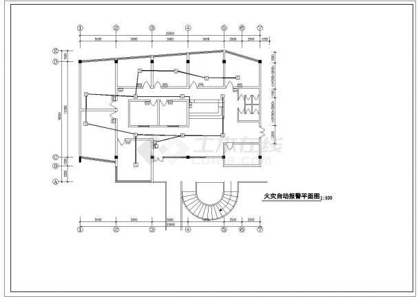 茶楼消防自动报警图纸-图二