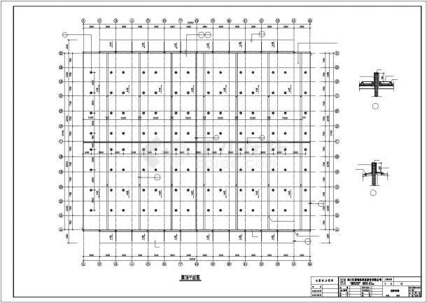 1万平米单层钢结构物流中转仓库建筑设计CAD图纸(含水电和结构图)-图二