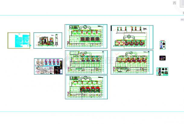 五套锅炉房常用cad结构施工设计图纸-图一