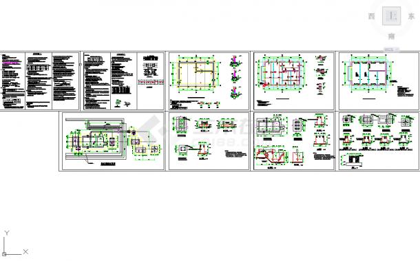 五套锅炉房常用cad结构施工设计图纸-图二