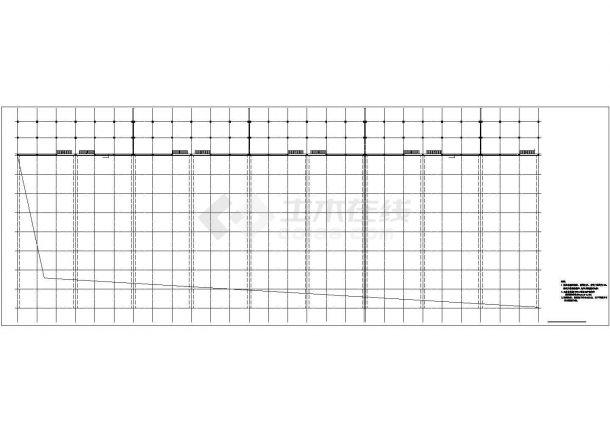 1.6万平米局部二层大型生产厂房建筑设计CAD图纸(含水电和结构图)-图一