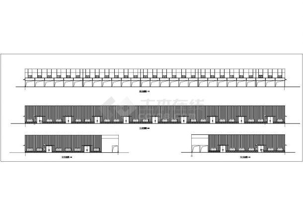 1.6万平米局部二层大型生产厂房建筑设计CAD图纸(含水电和结构图)-图二