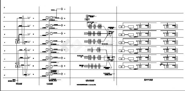 泗洪8层县中医院住院楼弱电系统设计施工cad图纸(含说明)-图一