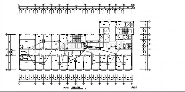 泗洪8层县中医院住院楼弱电系统设计施工cad图纸(含说明)-图二