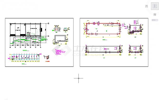 五套常用消防水池构造节点cad图纸-图一