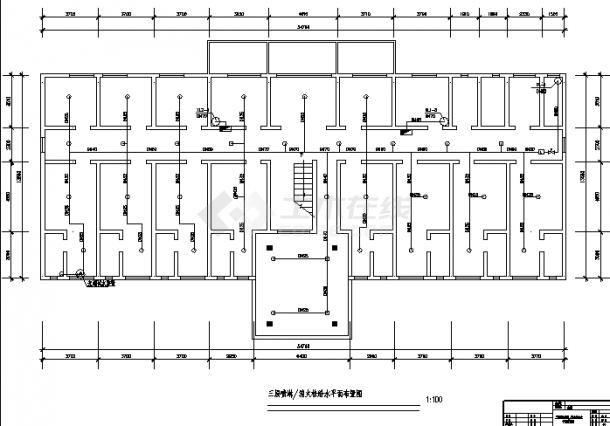 临海医院3层住院楼弱电系统设计施工cad图纸(含说明)-图一