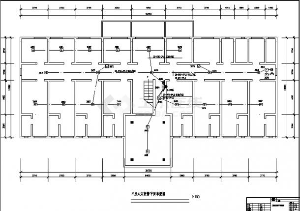 临海医院3层住院楼弱电系统设计施工cad图纸(含说明)-图二