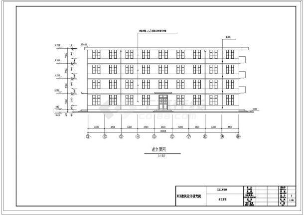 职工宿舍楼设计图(含平立剖 节点 门窗表)-图二