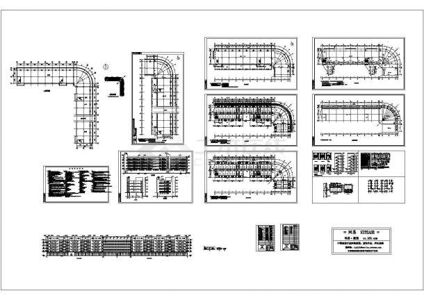 某高校经典的宿舍楼建筑设计cad施工图(带效果图)-图一