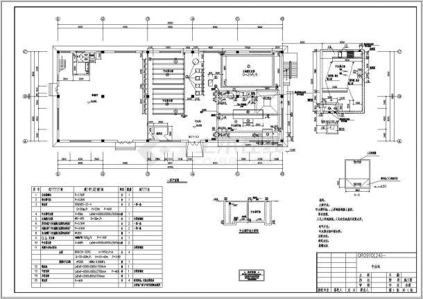 大型工業水回用站施工圖設計圖-圖一