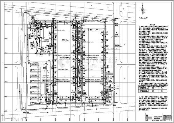 某大型工業水回用廠房綜合管線施工圖-圖一