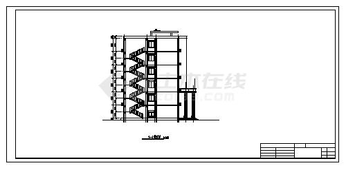 办公楼设计_某六层钢筋混凝土结构综合办公楼建筑施工cad图(含计算书,毕业设计)-图二
