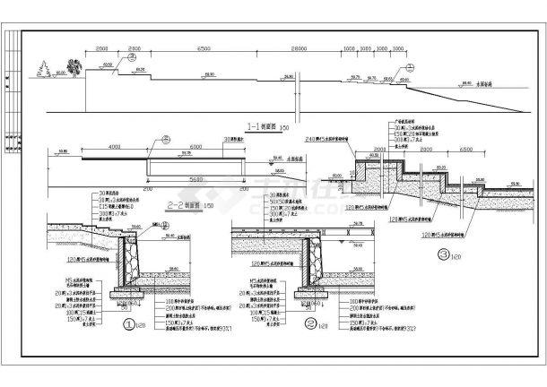 太阳湖公园绿化规划设计cad全套景观施工图(含鸟瞰效果图)-图一