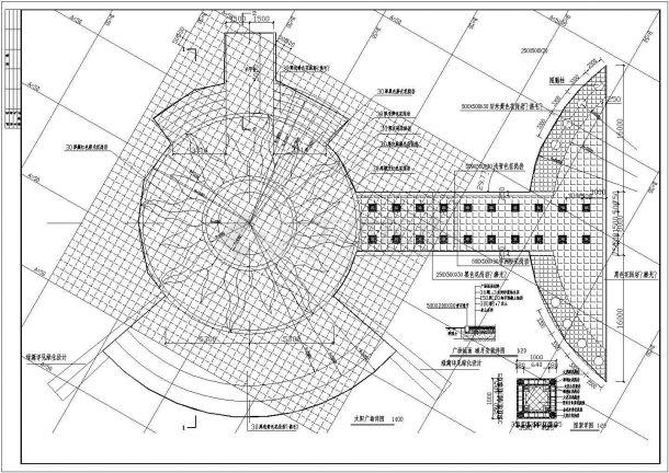 太阳湖公园绿化规划设计cad全套景观施工图(含鸟瞰效果图)-图二