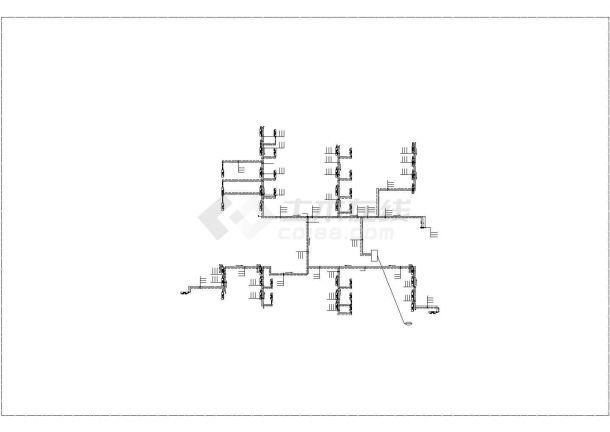 某商业广场空调通风及防排烟系统毕业设计CAD资料-图一