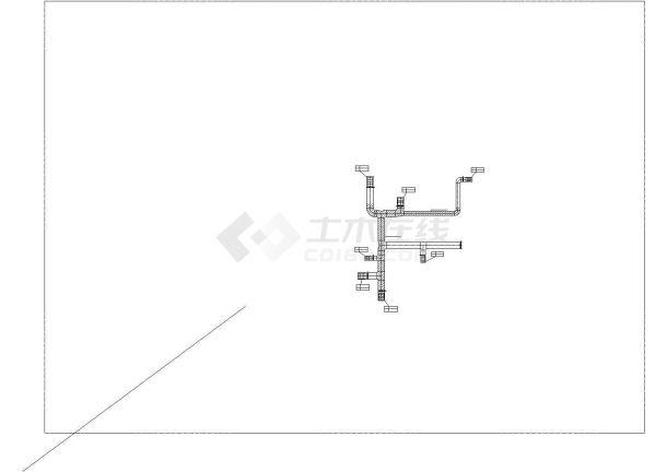 某商业广场空调通风及防排烟系统毕业设计CAD资料-图二