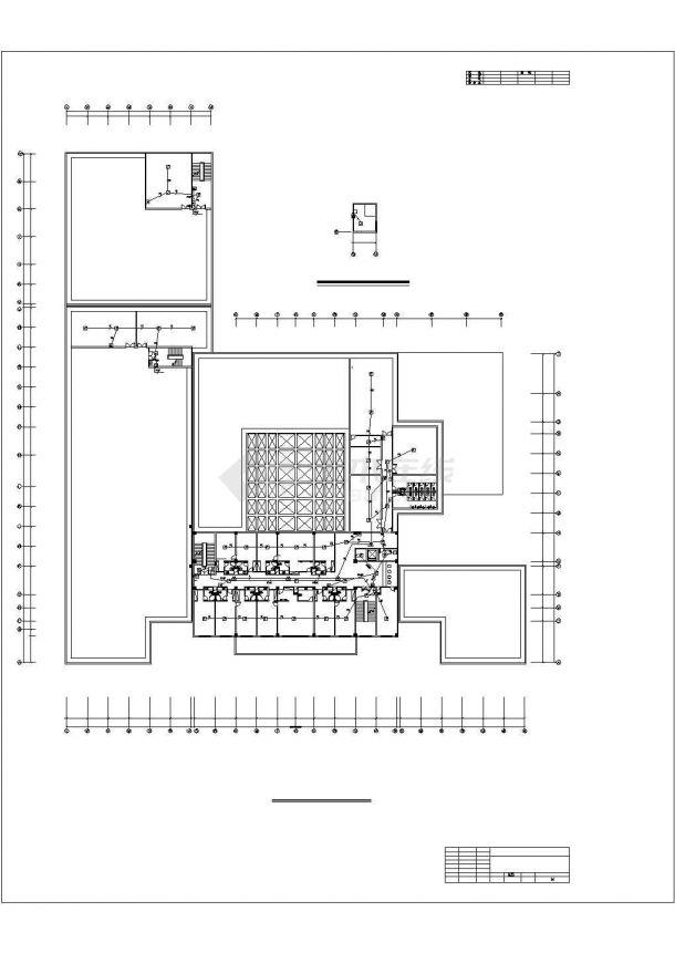 详图设计_机场酒店消防自动报警设计图纸-图一