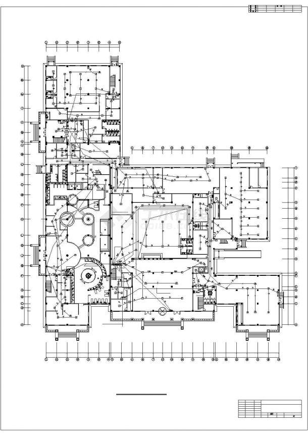 详图设计_机场酒店消防自动报警设计图纸-图二