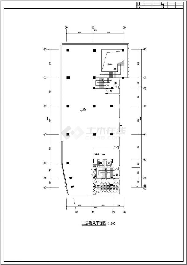 某高层综合楼通风及防排烟系统毕业设计CAD资料-图一