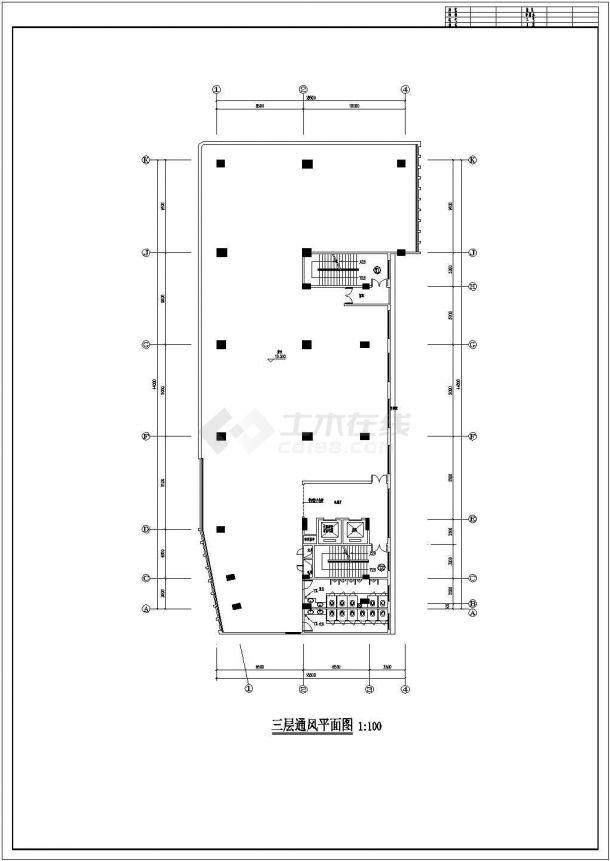某高层综合楼通风及防排烟系统毕业设计CAD资料-图二