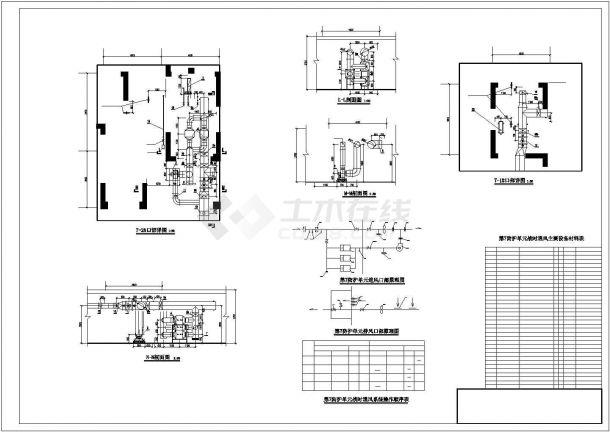 某大型商办楼防空地下室通风及防排烟系统毕业设计CAD资料-图一