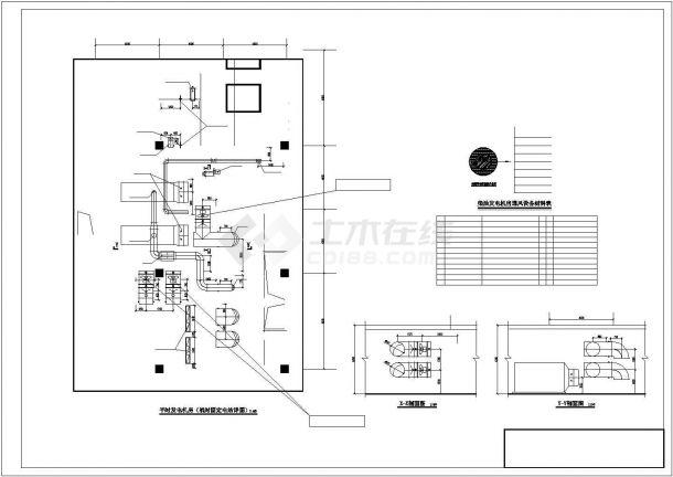 某大型商办楼防空地下室通风及防排烟系统毕业设计CAD资料-图二