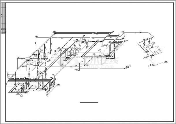 某住宅综合楼舒适性空调及制冷系统毕业设计CAD资料-图二