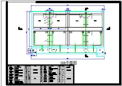 某啤酒污水处理厂工艺cad设计全套施工图纸-图二