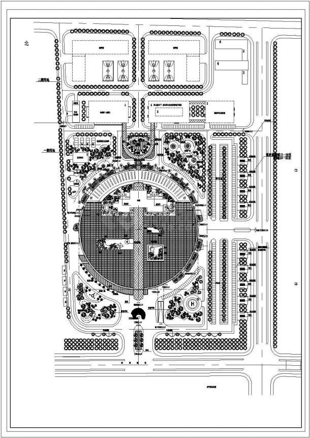 医院环境总平面布置景观设计图纸-图一