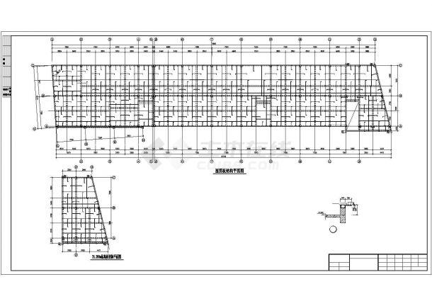 某四层框架办公楼招标文件CAD资料(计算书、结构图纸)-图一