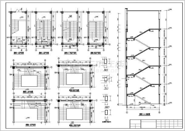 某四层框架办公楼招标文件CAD资料(计算书、结构图纸)-图二