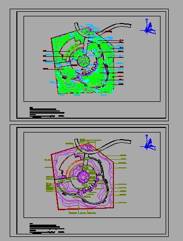 某社区公园景观设计cad全套施工图(含设计说明)-图一