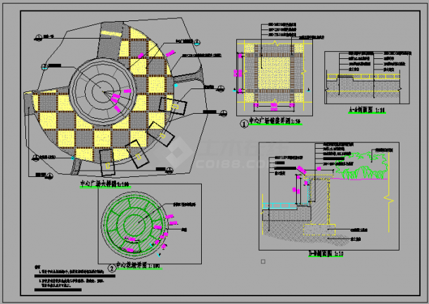 某社区公园景观设计cad全套施工图(含设计说明)-图二