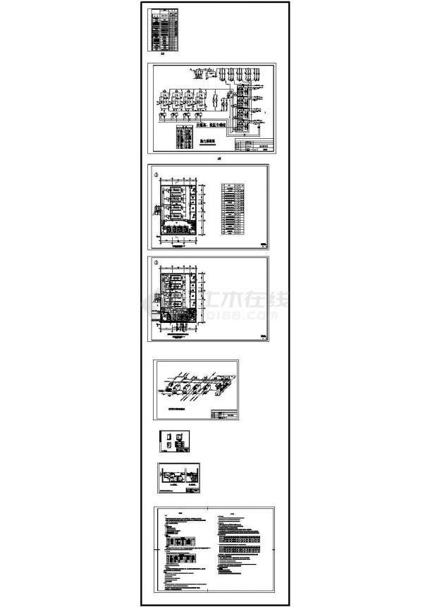 燃气锅炉房热力采暖系统设计图(管线透视图).dwg-图一