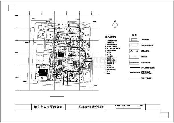 某人民医院规划建筑方案设计图-图一