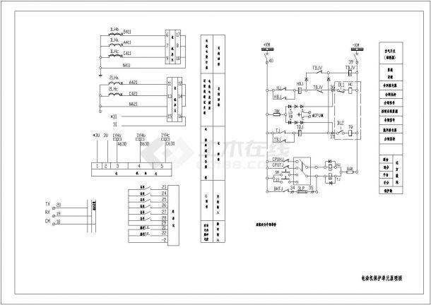 设备控制器_电动机保护单元原理图-图一