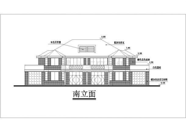 某一线城市连体别墅豪华小区住宅楼全套设计CAD图(含效果图)-图一