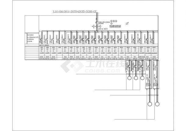 酒店厨房电气设计图纸-图二