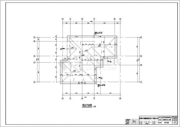 东莞市某小区二期框架结构设计多层住宅楼建筑设计CAD图(含效果图及设计说明)-图一