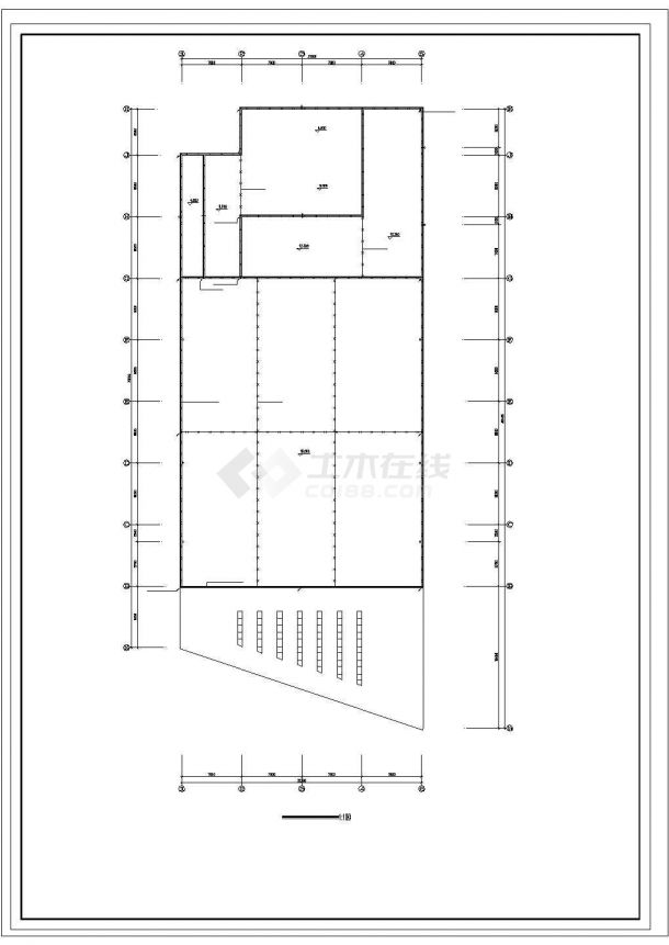 某中学食堂电气设计图纸-图一