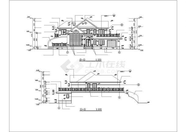 某二层山庄别墅工程毕业设计CAD资料(含结构计算书、结构图纸)-图一