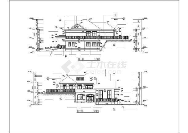 某二层山庄别墅工程毕业设计CAD资料(含结构计算书、结构图纸)-图二
