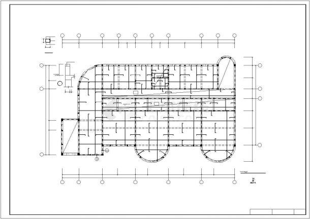 某三层框混幼儿园工程毕业设计CAD资料(含结构计算书、结构图纸)-图一