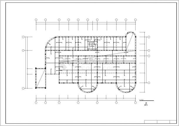 某三层框混幼儿园工程毕业设计CAD资料(含结构计算书、结构图纸)-图二