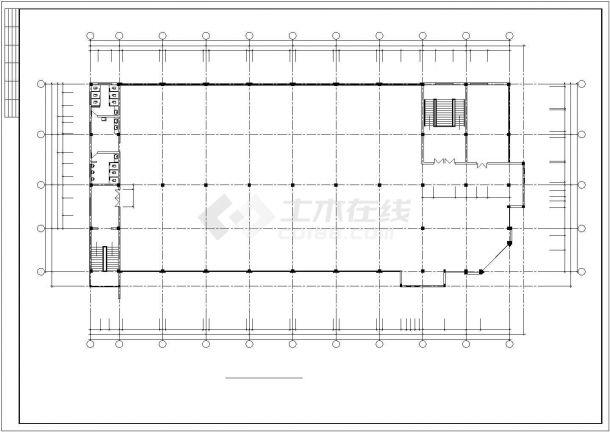 某渔业公司办公楼毕业设计CAD资料(含结构计算书、结构图纸)-图一