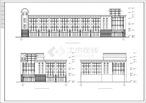 某渔业公司办公楼毕业设计CAD资料(含结构计算书、结构图纸)-图二